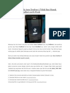 Cara Memperbaiki Asus Zenfone 5 Tidak Bisa Masuk Fastboot