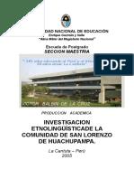 Investigacion Etnolinguistica