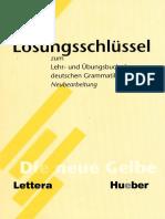 Prácticas de gramática alemana - Die neue Gelbe - Loesungsschluessel - Hueber 5.pdf