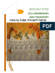 4. Cell Membranes and Transport as Biology