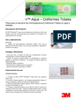 3M Petrifilm Aqua Coliformes Totales