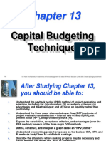 502331 Capital Budgeting Techniques Pp13