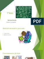 PPT apresentação de Biologia | curso profissional 1º ano