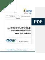 Manual de Inscripcion de Saber Pro y Saber Tyt 2017 - 2 - Programas Academicos