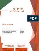 PPT Regonalisme Arsitektur