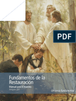 Foundations of the Restoration Maestro Manual Spa