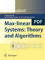(11). Max Linear Systems