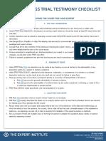 Testimony Checklist