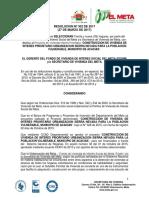 Resolucion No. 302 de 2017 de Seleccion de Sierra Nevada de Acacias