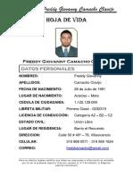 Hoja de Vida Freddy Camacho