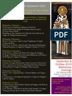 Symposium 2010 Timetable