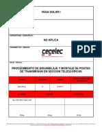 Ses-pe-e_ Procedimiento de Ensamblaje y Montaje de Postes de Transmisión en Seccion Telescópicas