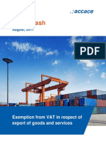 Exemption from VAT in respect of export of goods and services