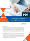 eCommerce in Romania Main Legal and Tax Aspects