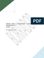 Manual de Calificación y Certificación de Discapacidad
