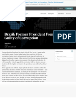 Brazil Former President Found Guilty of Corruption - Stratfor Worldview