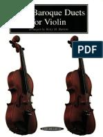 Easy Baroque Duets for Violin - Unknown