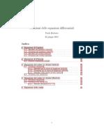 Soluzioni analitiche di equazioni differenziali notevoli (onde, calore)