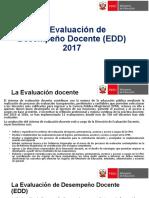 La Evaluación de Desempeño Docente (EDD)