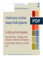 A brief survey of color change in lake pigments - By Jo Kirby and David Saunders