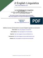 Challenges for Linguistics