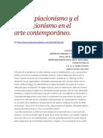 El apropiacionismo y el simulacionismo en el artecontemporáneo -N Osornio