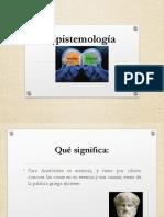 1 Epistemología