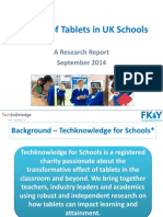 FKY the Use of Tablets in UK Schools September 2014
