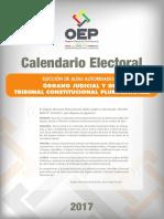 Calendario Electoral Judiciales 2017
