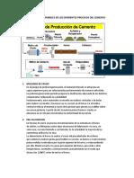 Identificar Variables de Los Diferentes Procesos Del Cemento