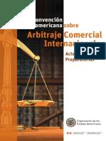 Actas y Sesiones preparatorias - Convención Interamericana sobre Arbitraje Comercial