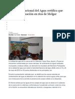 Autoridad Nacional Del Agua Certifica Que Hay Contaminación en Ríos de Melgar