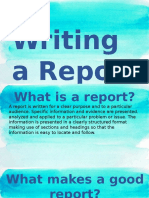 Report Writing (EAPP)