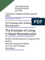 Outcomes of Skin Graft Reconstr