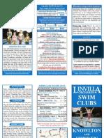 2010 Swim Club Brochure