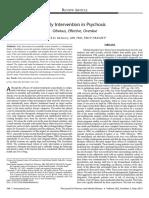 revisión intervención precoz en psicosis
