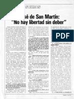 San Martín No Hay Libertad Sin Deber - SOMOS 1978