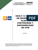 SGSI.F.12 Informe de Pruebas Del Plan de Continuidad y Disponibilidad (Final)