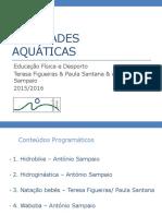 Atividades Aquáticas 15 16