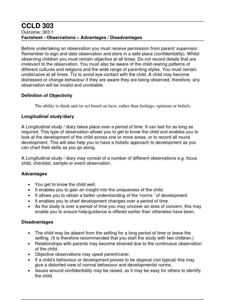 Participant observation advantages and disadvantages pdf download