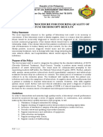 Policies and Procedure for Ensuring Quality of Sputum Microscopy Results