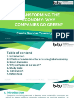 Why Companies Go Green