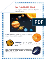 Asignacion Del Sistema Planetario Solar