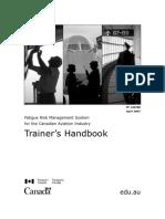 Canada FRMS Trainer's Handbook