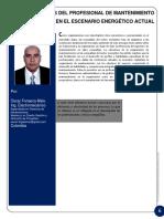 ML Fonseca-  ROLES Y RETOS DEL PROFESIONAL DE MANTENIMIENTO  EN EL ESCENARIO ENERGÉTICO ACTUAL