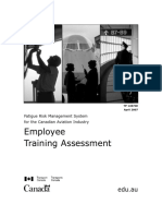 Canada FRMS Employees Training Assessment