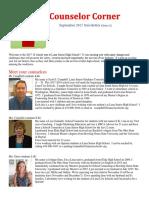Sept Counselor's Newsletter