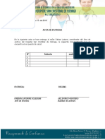 Acta de Entrega de Documentacion