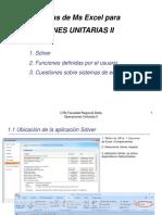 Solver y Funciones Definidas Por El Usuario version 2017