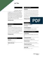 Adobe Caslon Pro Glyphs